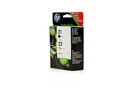 HP 21/22 - Cartucho de Tinta para impresoras (Black, Cyan ...