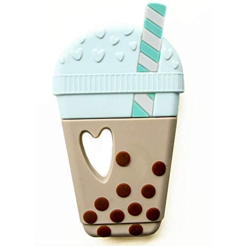Single Bubble Tea Coffee CupSilicone Teether, Natural (brown) -