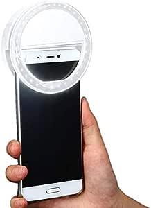 ضوء LED على شكل حلقة لتحسين اضاءة الصور لهواتف ايفون 6/6S بلس وهواتف سامسونج