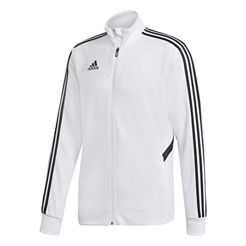 - adidas Men's Alphaskin Tiro Training Jacket, White/Black, Small
