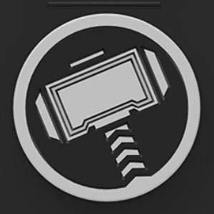 Marvel Avengers Endgame iPhone Xs Max Case, Thor (Black)