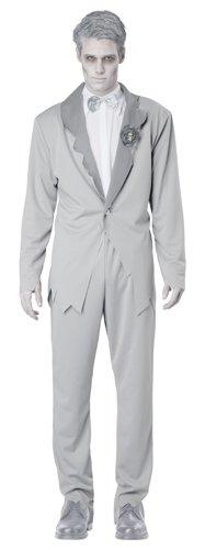 Gentleman Halloween Costumes (California Costumes Men's Ghostly Groom Adult, Grey,)