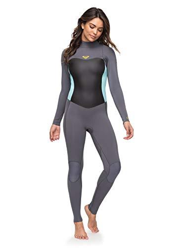 Roxy Womens 3/2Mm Syncro Series - Back Zip GBS Wetsuit - Women - 14 - Green Deep Grey/Glicer Blue ()