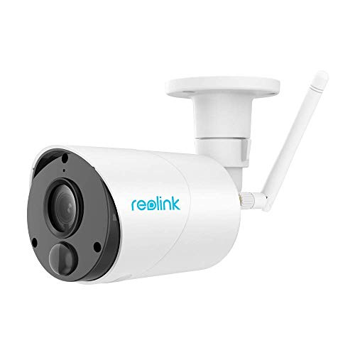 REOLINK Argus Eco   Outdoor Wireless Security Camera, Rechargeable Battery/Solar-Powered  1080p HD Wire-Free 2-Way Audio  IR Night Vision w/PIR Motion Sensor & SD Socket