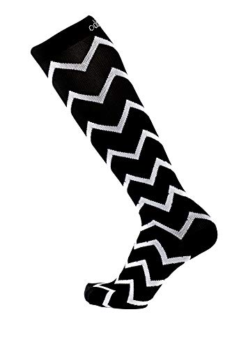 (Odd Duck Compression Socks (15-20 mmHg) for Women and Men - for Everyday Flying, Running, Sitting, Standing, Jogging, Playing (Pinot Noir, Large))