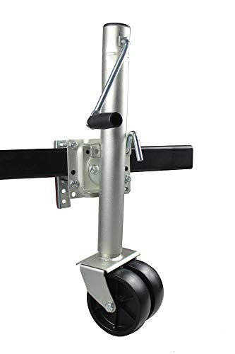 Cheap MaxxHaul  70149 26-1/2 to 38 Lift Swing Back Trailer Jack with Dual Wheels - 1500 lbs. Capac...