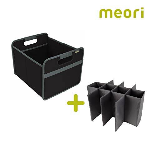 meori 12 Bottle Lava Black/Carry Case Vacation Glasses Picnic Dinner Party Wine Carrier,
