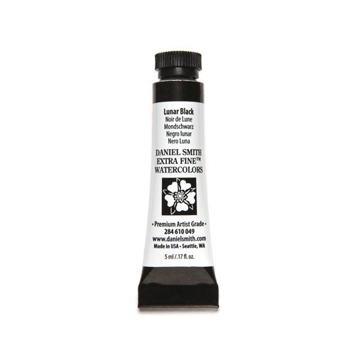 Price comparison product image Daniel Smith Watercolour 5 ml Tube (S1) - Lunar Black (049) by Daniel Smith