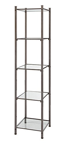 SSWBasics Open Display Tower - Boutique Raw Steel (5 Glass - Steel Raw Display