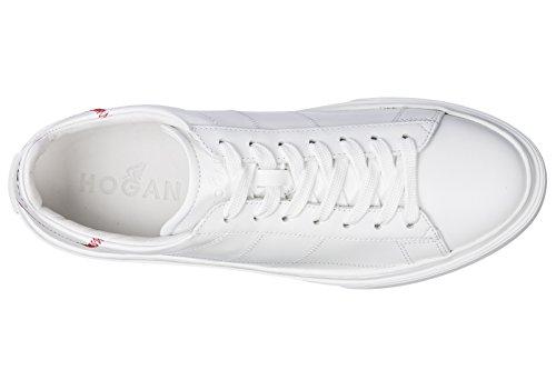 Hogan Uomo Scarpe Sneakers In Pelle Uomo H365 Bianco