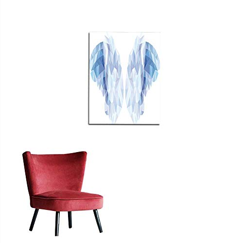 Corridor/Indoor/Living Room Vector of Angel Wings in The Style of a Low Poly Mural 16