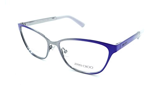 Jimmy Choo Rx Eyeglasses Frames JC 123 235 54-15-140 Shaded Blue Made in Italy