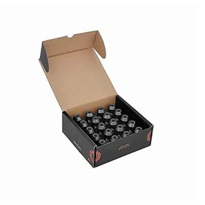 Mishimoto Aluminum Locking Lug Nuts, M12 x 1.5, Black: Automotive