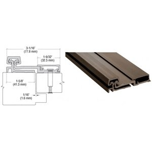 CRL 100 Series Dark Bronze Standard Duty Full Surface Continuous Hinge - 83 in long by C.R. Laurence