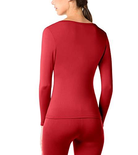 Chaud Et 1 Sans Laine Lapasa Léger Thermique Haut Bas vêtement Pantalon rouge Sous Polaire L17 Femme Doublure RvOvF61