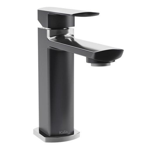 Faucet Hole 150 Single Lavatory - Kalia Grafik Black and Chrome Single Hole Bathroom Lavatory Faucet BF1290-150