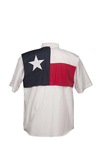 Men's Texas Flag Fishing Shirt Short Sleeve XL