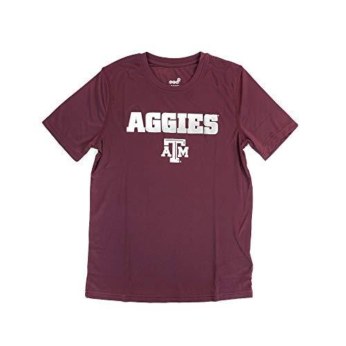 (Genuine Stuff NCAA Texas A&M Performance Short Sleeve Tee, L(14-16), Classic Maroon)