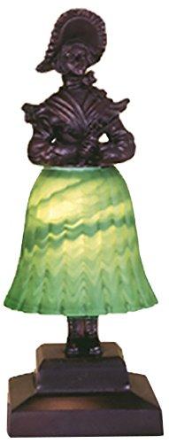 Meyda Tiffany 24094 Silhouette Prairie Lady Accent Lamp, 13.5'' H