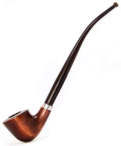 Long Tobacco Smoking Pipe Churchwarden Style Handmade from Pear Wood with Acrylic stem by KAFpipeWorkshop