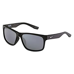 Nike EV0834-002 Cruiser Sunglasses (One Size), Matte Black, Grey with Silver Flash Lens
