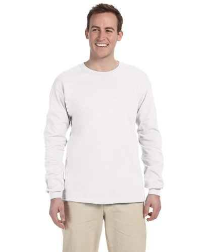 Gildan Adult L/S T-Shirt in White - Medium
