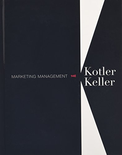 Marketing Management Kotler Keller 14th Edition Test Bank