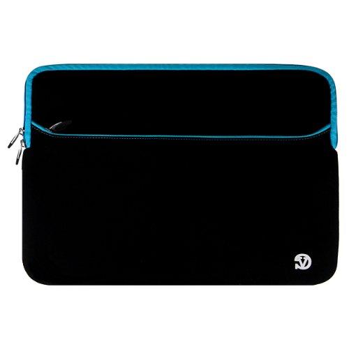"VanGoddy Neoprene Sleeve Cover for Dell Inspiron / Alienware / Precision Mobile Workstation 17.3"" Laptops + Black VG Headphones + Black Wireless USB Mouse + 16GB Memory Card (Blue Trim)"
