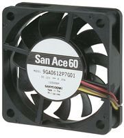 Price comparison product image SANYO DENKI - SANACE FANS 9GA0612P7H01 AXIAL FAN,  60MM,  12VDC,  100mA