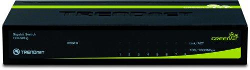 TRENDnet 8-Port Unmanaged Gigabit GREENnet Desktop Metal Housing Switch, TEG-S80g