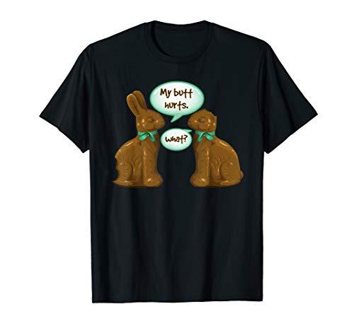 Chocolate Bunny T-shirt - Funny Easter Shirt - Chocolate & Stuff Bunny TShirt Tee