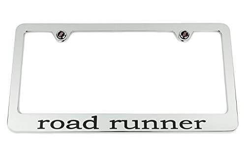 Destiny'S Plymouth Road Runner Chrome License Plate Frame - Black Engraving - USA (Plymouth License Plate)