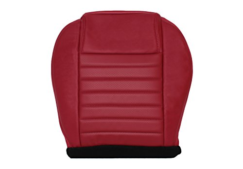 Richmond Auto Upholstery 2005 2006 2007 2008 2009 Ford Mustang GT - Driver Side Bottom Replacement Leather Seat Cover, Red