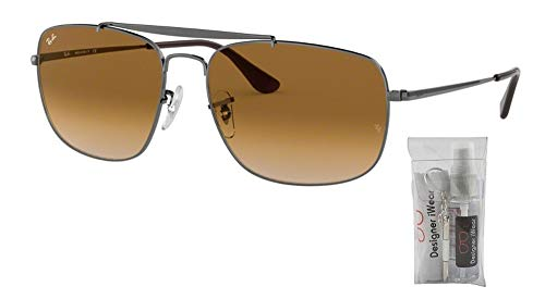Ray-Ban RB3560 THE COLONEL 004/51 58M Gunmetal/Clear Brown Gradient Sunglasses For Men For Women (Ray Ban Optiker)