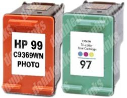 Combo Pack Remanufactured HP 99/97 C9369WN/C9363WN (1 PHT+1 CLR)