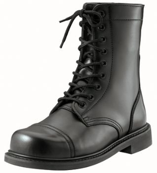5075 Black GI Style Combat Boot - stylishcombatboots.com