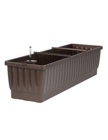 """31"""" Self-Watering Rolling Planter for Indoor/Outdoor Patio, Deck Garden, Grow Flowers, Herbs, Succulents and Plants Bronze"""