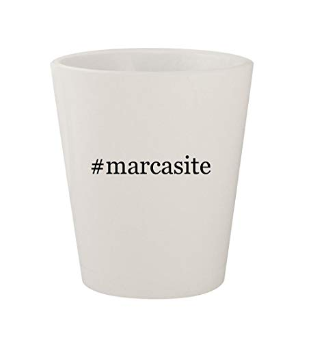 #marcasite - Ceramic White Hashtag 1.5oz Shot Glass ()