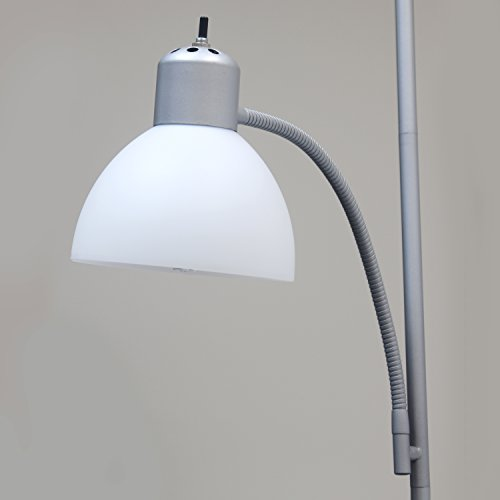 Simple Designs Home LF2000-SLV Floor Lamp with Reading Light, Silver by Simple Designs Home (Image #5)