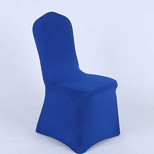 YRYIE Universal Stretch Spandex Dining Chair Cover for Wedding Banquet Ceremony Decoration Royal Blue ()