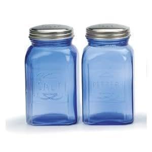 RSVP Retro Blue Glass Salt & Pepper Shakers by R.S.V.P.