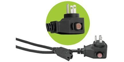 Power All 780065 Commercial Grade 125-volt 6-Feet 16-Gauge Black Cord with Circuit Breaker by Power All