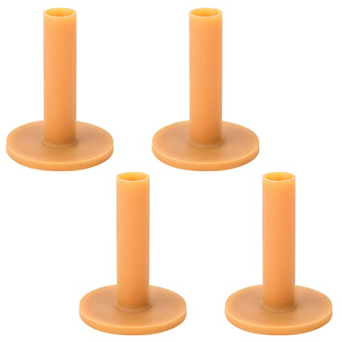 ANCIRS 4 pcs 80mm Golf Rubber Tees, Driving Range Tee Holder for Winter Simulator Practice Mat