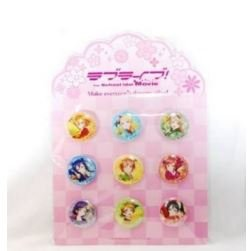 The Movie Love live theater limited μ's cans badge nine set New From Japan (Cosplay Store Near Me)