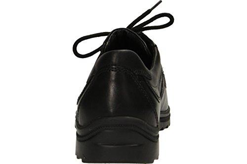 Waldläufer - Zapatos de cordones de cuero para hombre, color negro, talla 44