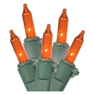 Vickerman Light Sets Amber Light Set with 100 Amber Mini Lights