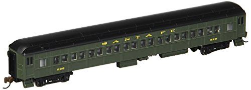 Bachmann Industries Heavyweight Coach with Lighted Interior - Santa FE (N Scale), 72'