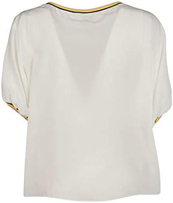 Pinko Fashion Woman 1G14067312Z09 White Silk Blouse | Season Outlet
