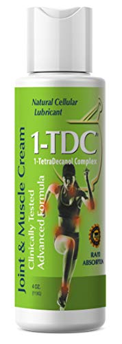 1TDC - Joint & Muscle Relief Cream - 4 oz - Professionally Formulated to Soothe, Relax & Promote Healing - 1-TetraDecanol Complex Supports Natural Joint Flexibility - Effective & Paraben Free