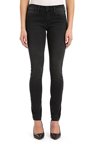 Mavi Women's Adriana Mid Rise Super Skinny Jeans, Dark Smoke Supersoft 27 X 32